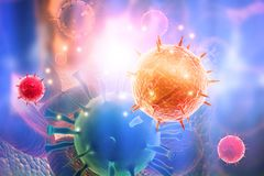 illustration 3d de virus illustration libre de droits