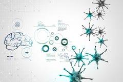 illustration 3d de virus mobile Image libre de droits