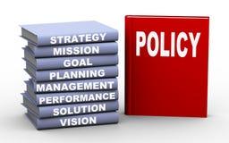 Konzeptbücher der Politik 3d stock abbildung