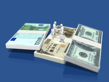 Illustration 3D der Finanzierung Lizenzfreies Stockfoto