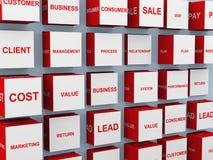 Konzeptwörter des Geschäfts 3d stock abbildung