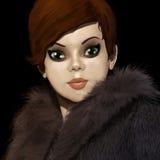 Illustration 3D der modernen Frau Stockbild