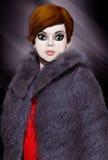 Illustration 3D der modernen Frau Stockbilder