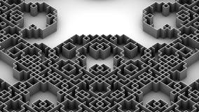 Illustration 3D der techno Labyrinthoberfläche Lizenzfreie Stockbilder