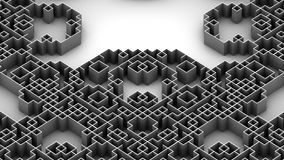 Illustration 3D der techno Labyrinthoberfläche stock abbildung