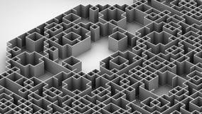 Illustration 3D der techno Labyrinthoberfläche vektor abbildung