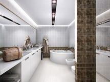 Illustration 3D des Badezimmers in der antiken Art Lizenzfreie Stockfotos