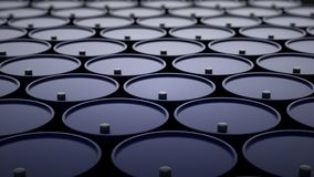 illustration 3d des barils avec le pétrole brut photo stock
