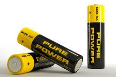 illustration 3d des batteries Photographie stock libre de droits