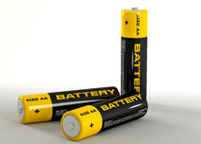 illustration 3d des batteries Photo stock