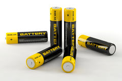 illustration 3d des batteries Photos stock