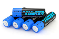 illustration 3d des batteries Photos libres de droits
