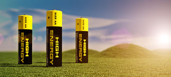 illustration 3d des batteries Image libre de droits