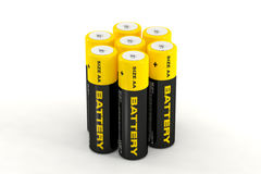 illustration 3d des batteries Photographie stock