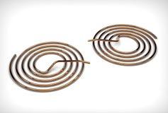 illustration 3d des bobines de cuivre de tuyau illustration libre de droits
