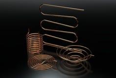 illustration 3d des bobines de cuivre de tuyau illustration de vecteur