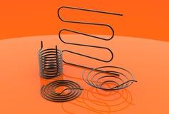 illustration 3d des bobines noires de tuyau Photos stock