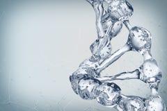 Illustration 3d des DNA-Molekülmodells vom Wasser Lizenzfreies Stockbild