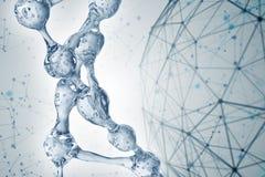Illustration 3d des DNA-Molekülmodells vom Wasser vektor abbildung