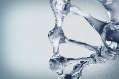 Illustration 3d des DNA-Molekülmodells vom Wasser Stockfotografie