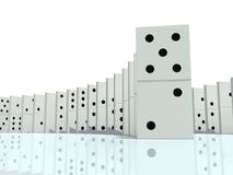 Illustration 3d des Dominos Stockbild