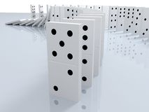 Illustration 3d des Dominos Lizenzfreies Stockbild