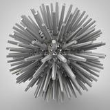 Illustration 3D des dreidimensionalen Gegenstandes wie Polyederstern stock abbildung