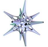 Illustration 3D des dreidimensionalen Gegenstandes wie Polyederstern vektor abbildung