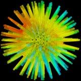 Illustration 3D des dreidimensionalen Gegenstandes wie Polyederstern Lizenzfreie Stockfotos