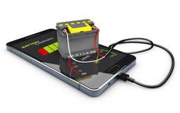Illustration 3d des Energie-Bank-Akkumulator-Batterie-Telefon-Ladegeräts Stockbild
