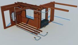 Illustration 3D des Entwurfs des Gerätes vom eingebauten vacu Lizenzfreie Stockbilder