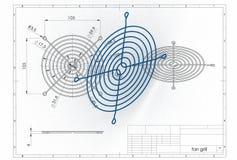 Illustration 3D des Fangrills Stockbild