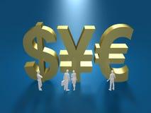Illustration 3D des Finanzsystems Lizenzfreie Stockfotografie