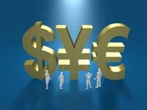 Illustration 3D des Finanzsystems Lizenzfreie Stockfotos