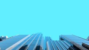 illustration 3D des gratte-ciel en verre modernes Image libre de droits