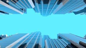 illustration 3D des gratte-ciel en verre modernes Photos libres de droits