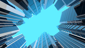 illustration 3D des gratte-ciel en verre modernes Photo stock