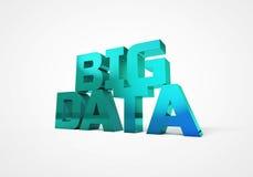 Illustration 3D des großen Datenkonzeptes vektor abbildung