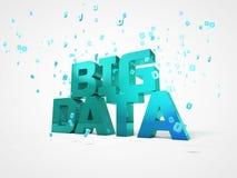 Illustration 3D des großen Datenkonzeptes Lizenzfreie Stockbilder