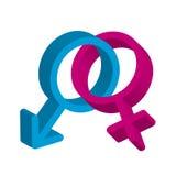 Männliches und weibliches Symbol Lizenzfreies Stockbild