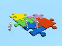 Illustration 3D des Puzzlen Lizenzfreies Stockfoto