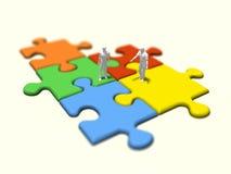 Illustration 3D des Puzzlen Stockfoto
