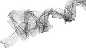 Illustration 3d des Schleiers auf dem Wind Lizenzfreie Stockbilder