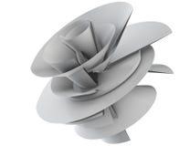 Illustration 3D des techno Blumenmodells vektor abbildung