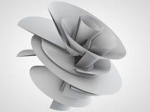 Illustration 3D des techno Blumenmodells Lizenzfreies Stockbild