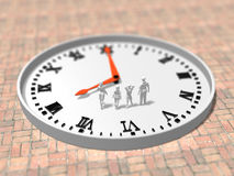 Illustration 3D des Zeitplanes Lizenzfreie Stockfotos