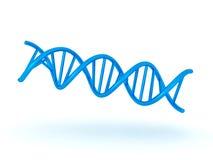 Illustration 3D DNA-Symbols Doppelhelix der Knickente glänzenden Stockbilder