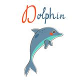 Illustration of D is for dolphin Stock Image