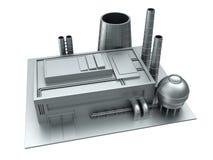 Bâtiment d'usine en acier Photographie stock libre de droits