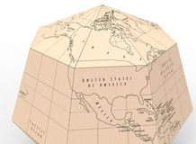 illustration 3d du globe de papier Photo stock